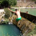 Piscina natural Beceite, waterpret voor daredevils
